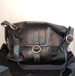YVES SAINT LAURENT Black Leather Satchel